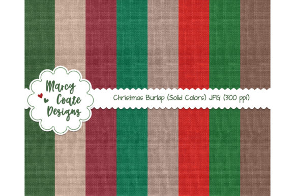 Christmas Burlap Texture Backgrounds Graphic Backgrounds By MarcyCoateDesigns