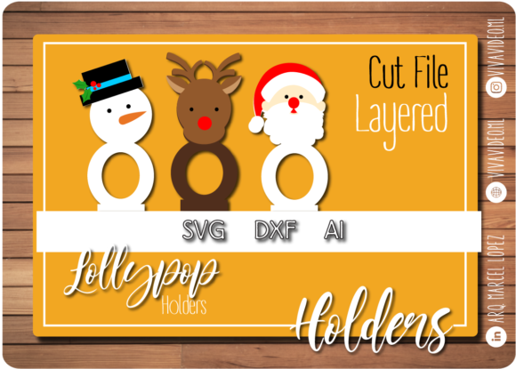 Print on Demand: Christmas Lollypop Holders Graphic Print Templates By Marcel de Cisneros