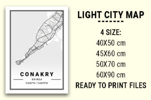 Print on Demand: Conakry Light City Map Graphic Photos By tienstencil