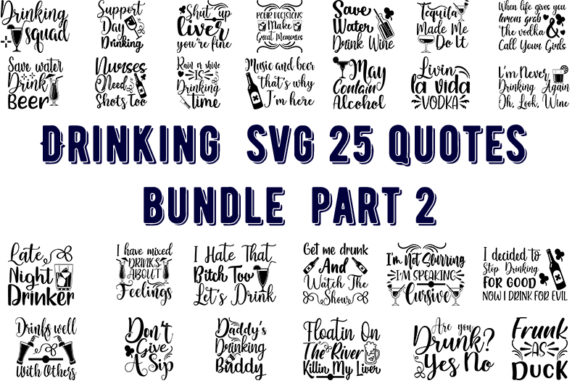 Print on Demand: Drinking 25 Quotes Bundle Graphic Crafts By Design_store