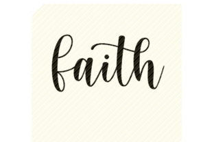 Print on Demand: Faith Quote Christian Text Graphic Graphic Crafts By SVGPlaceDesign