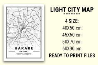 Print on Demand: Harare Light City Map Graphic Photos By tienstencil