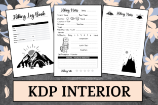 Print on Demand: Hiking Log Book | KDP Interior Graphic KDP Interiors By KDP Mastermind
