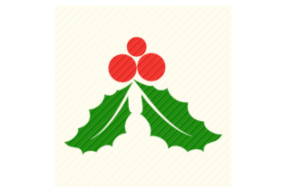 Print on Demand: Holly Leaves Christmas Graphic Graphic Crafts By SVGPlaceDesign
