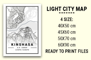 Print on Demand: Kingshasa Light City Map Graphic Photos By tienstencil