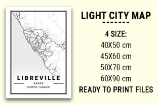 Print on Demand: Libreville Light City Map Graphic Photos By tienstencil