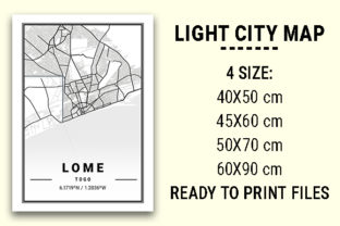 Print on Demand: Lome Light City Map Graphic Photos By tienstencil