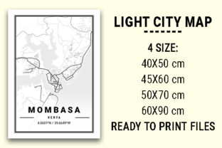 Print on Demand: Mombasa Light City Map Graphic Photos By tienstencil