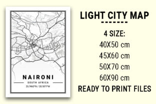 Print on Demand: Naironi Light City Map Graphic Photos By tienstencil
