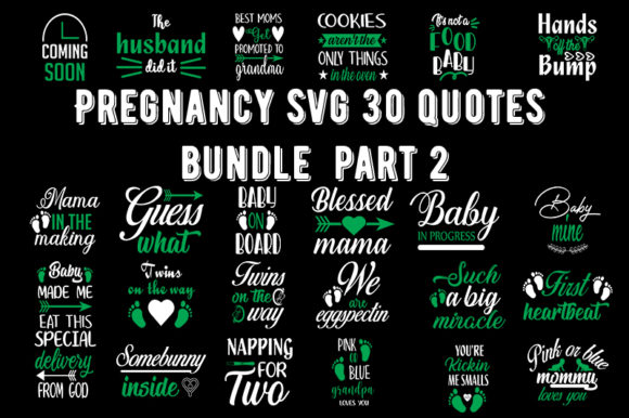 Print on Demand: Pregnancy 30 Quotes Bundle Graphic Crafts By Design_store