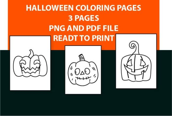 Print on Demand: Pumpkin Halloween Coloring Pages Book Graphic Coloring Pages & Books Kids By Mah Moud