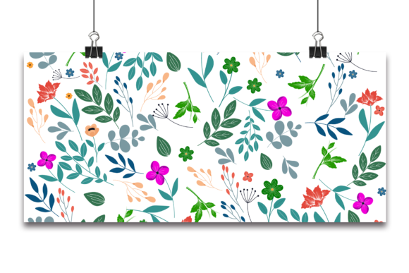 Seamless Floral Pattern in Vector Graphic Patterns By Ju Design