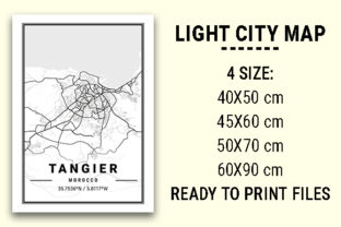Print on Demand: Tangier Light City Map Graphic Photos By tienstencil