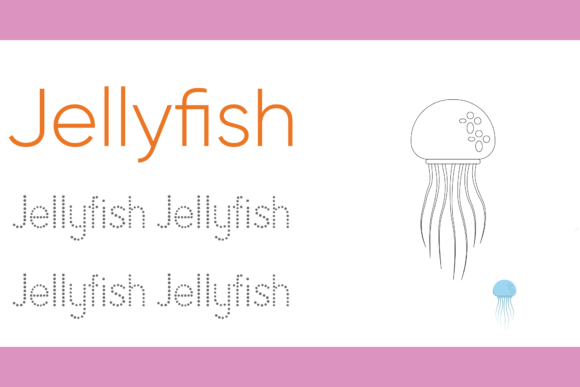 Print on Demand: Tracing and Coloring for Kids Jellyfish Graphic Illustrations By studioisamu