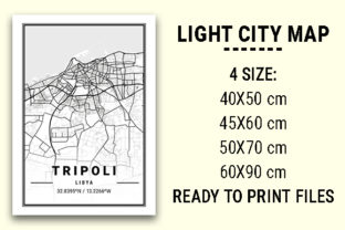 Print on Demand: Tripoli Light City Map Graphic Photos By tienstencil