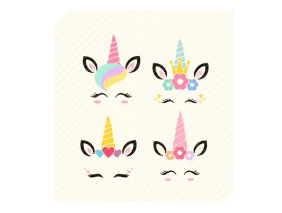 Print on Demand: Unicorn Head Smiling Face Graphic Graphic Crafts By SVGPlaceDesign