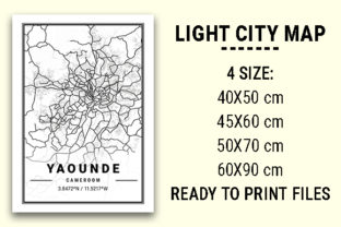 Print on Demand: Yaounde Light City Map Graphic Photos By tienstencil