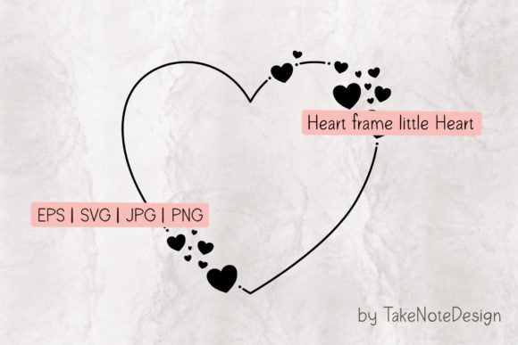 Heart Frame Little Heart Graphic Crafts By TakeNoteDesign