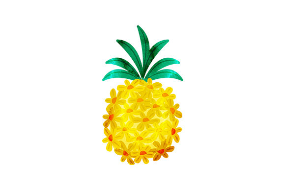 Floral Pineapple Summer Craft Cut File By Creative Fabrica Crafts