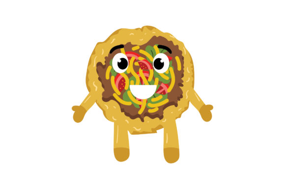 Indian Taco Food & Drinks Craft Cut File By Creative Fabrica Crafts
