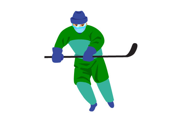 Hockey Player with Mask Sports Craft Cut File By Creative Fabrica Crafts