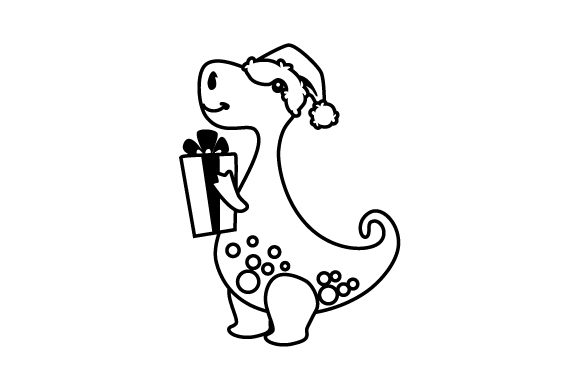 Christmas Dinosaur Christmas Craft Cut File By Creative Fabrica Crafts - Image 2