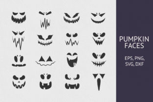16 Hand Drawn Pumpkin Faces Collection Graphic Illustrations By Kirill's Workshop