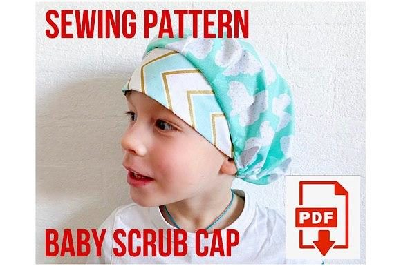 1-6 Year Age Baby Scrub Cap Graphic Sewing Patterns By Cotton Miracle Studio