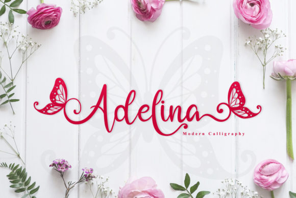 Print on Demand: Adelina Script & Handwritten Font By niyos.studio