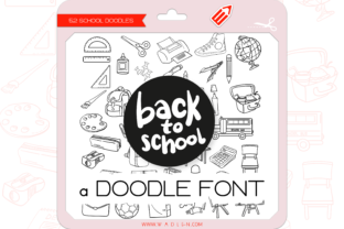 Print on Demand: Back to School Dingbats Font By WADLEN