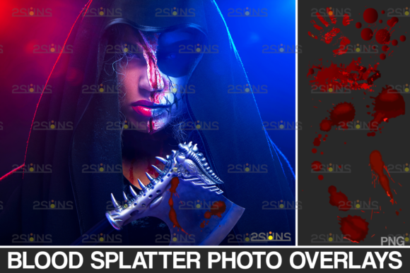 Blood Photo Overlay, Halloween Overlay, Graphic Actions & Presets By 2SUNS