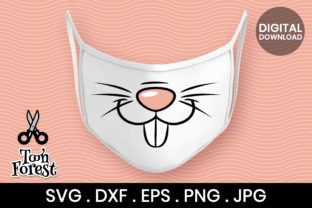 Print on Demand: Bunny Nose Cut File for Face Mask Graphic Crafts By Toon Forest