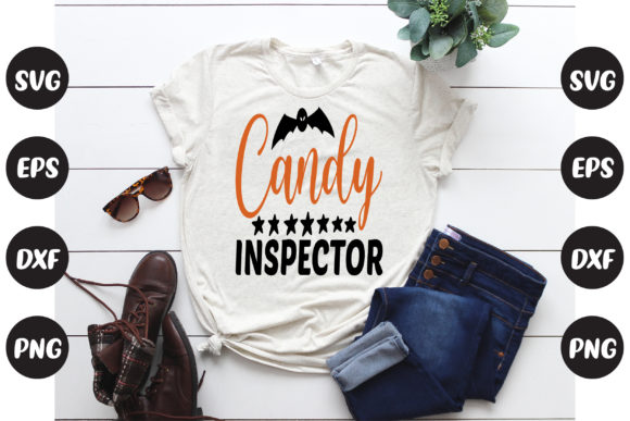 Print on Demand: Candy Inspector Halloween Design Graphic Crafts By Graphics Home.net