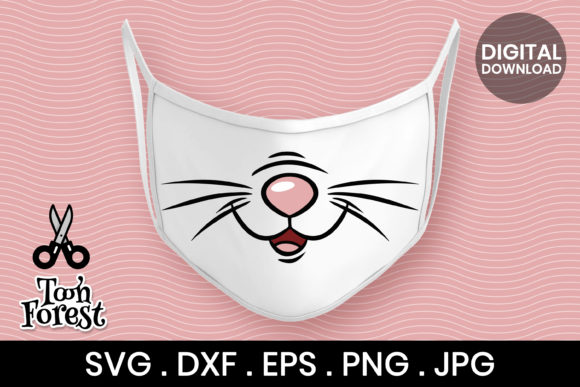 Print on Demand: Cat Nose Cut File for Face Mask Graphic Crafts By Toon Forest