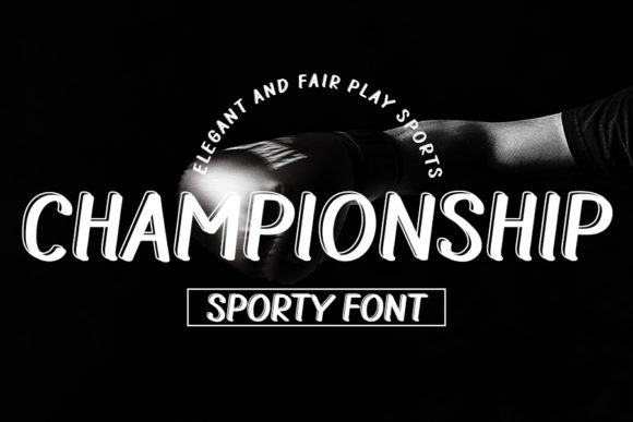 Print on Demand: Championship Display Font By K_IN Studio