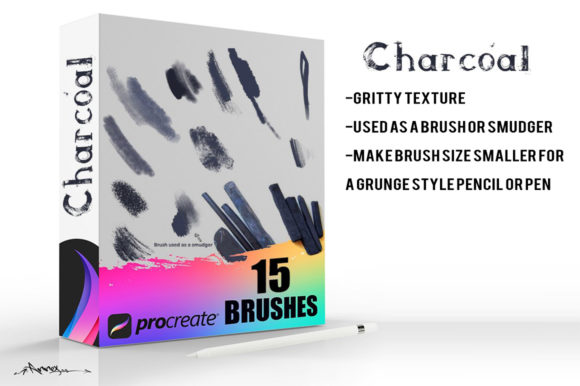 Charcoal Procreate Brushes Graphic Brushes By Annex