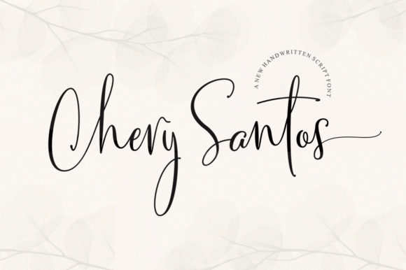 Print on Demand: Chery Santos Script & Handwritten Font By Aqeela Studio
