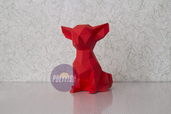 Chihuahua Papercraft Graphic Crafts By PolyFish
