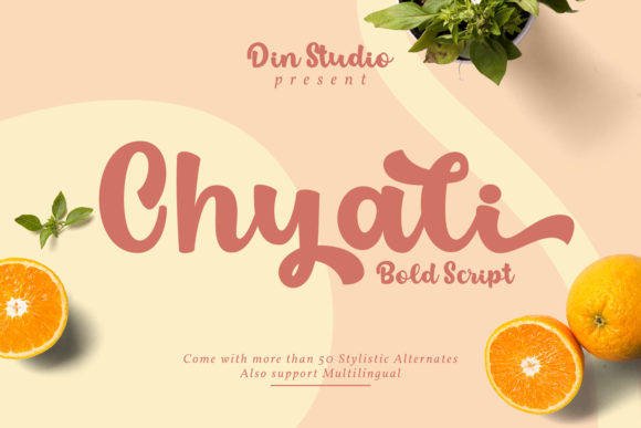 Print on Demand: Chyali Script & Handwritten Font By Din Studio