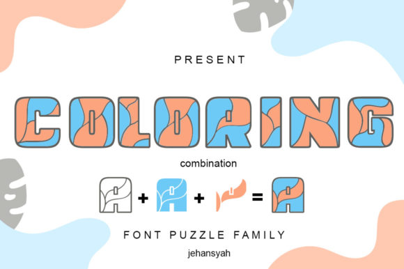 Print on Demand: Coloring Display Font By jehansyah251