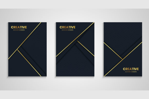 Cover Background in Golden and Dark Gray Graphic Backgrounds By medelwardi