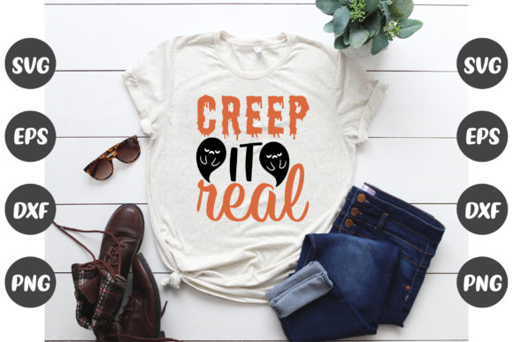Print on Demand: Creep It Real Halloween Design Graphic Crafts By Design Store Bd.Net
