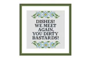 Print on Demand: Dishes Funny Kitchen Cross Stitch Graphic Cross Stitch Patterns By Tango Stitch