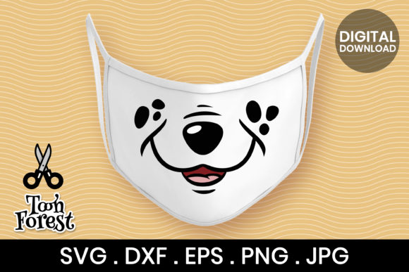 Print on Demand: Dog Nose Cut File for Face Mask Graphic Crafts By Toon Forest