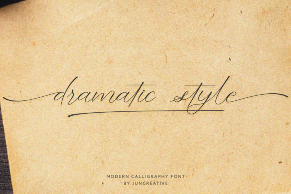 Print on Demand: Dramatic Style Script & Handwritten Font By Juncreative