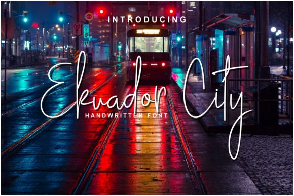 Print on Demand: Ekuador City Script & Handwritten Font By Pidco.art