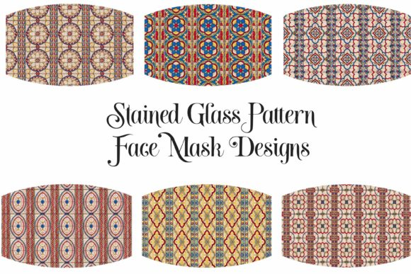 Face Mask Stained Glass Design Graphic Illustrations By Digital Honey Bee