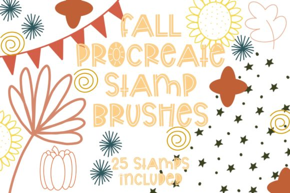 Print on Demand: Fall Procreate Stamp Pack Graphic Brushes By Fairways and Chalkboards