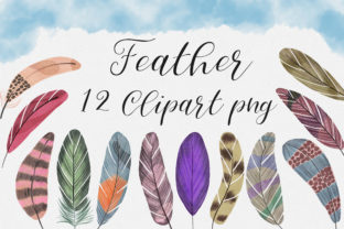 Print on Demand: Feather Clip Art Graphic Illustrations By PinkPearly