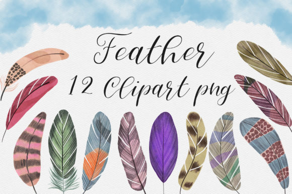 Feather Clip Art Graphic Illustrations By PinkPearly